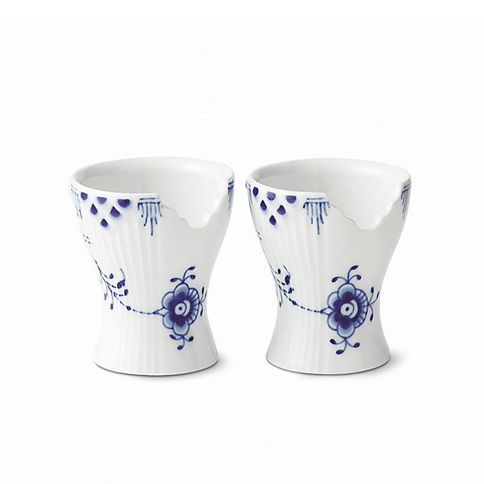 Alternate image 1 for Royal Copenhagen Elements Egg Cups in Blue (Set of 2)