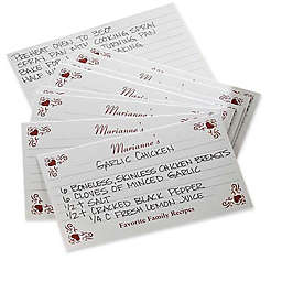 Family Favorites 3-Inch x 5-Inch Recipe Cards (Set of 24)