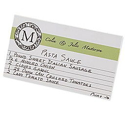 Wedding Recipes 3-Inch x 5-Inch Recipe Cards (Set of 24)
