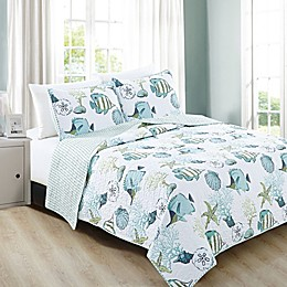 Great Bay Home Seaside Reversible Quilt Set