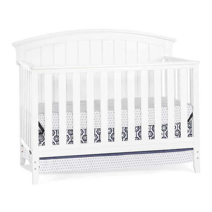 Alternate image 1 for Child Craft™ Delaney 4-in-1 Convertible Crib in Matte White
