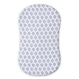 HALO® Bassinest® Swivel Sleeper Muslin Fitted Sheet in Grey/White Leaf Print