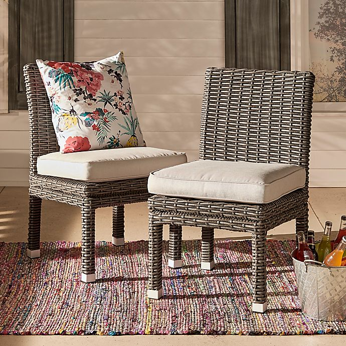 Alternate image 1 for Verona Home Brescia Rattan Dining Side Chair (Set of 2)