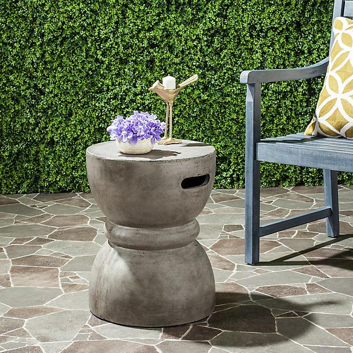 Alternate image 1 for Safavieh Haruki 13.7-Inch Round Concrete Accent Table in Dark Grey