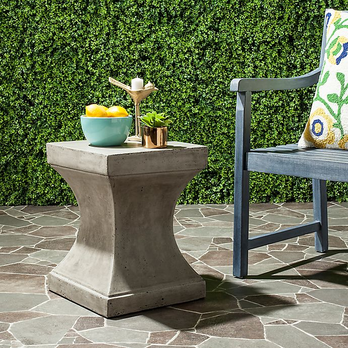 Alternate image 1 for Safavieh Curby Concrete Accent Table