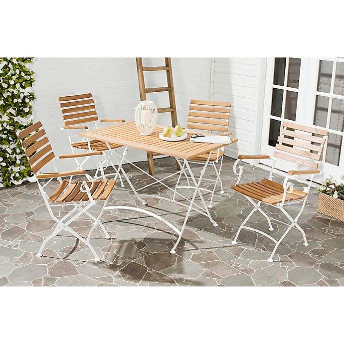 Alternate image 1 for Safavieh Lawndale 5-Piece Wood Dining Set in Ash Grey