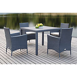 Safavieh Frazier 5-Piece Rattan Dining Set