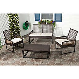 Safavieh Shawmount 4-Piece Wicker Outdoor Set
