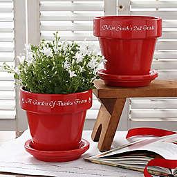 Where Children Bloom Flower Pot in Red