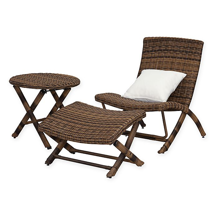 Alternate image 1 for Safavieh Perkins 3-Piece Chaise Set in Brown
