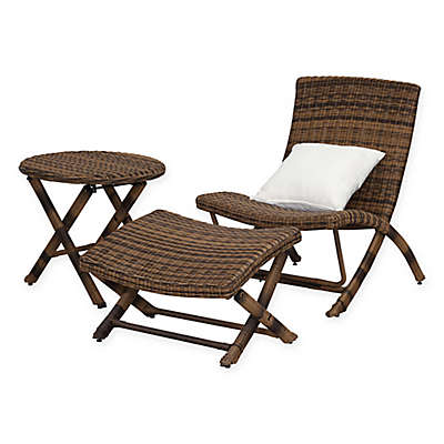 Safavieh Perkins 3-Piece Chaise Set in Brown