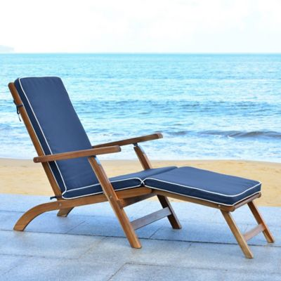 Safavieh Palmdale All Weather Chaise Lounge Chair in Teak ... on Safavieh Chaise Lounge id=33571