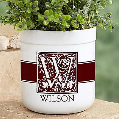 Floral Monogram Outdoor Flower Pot