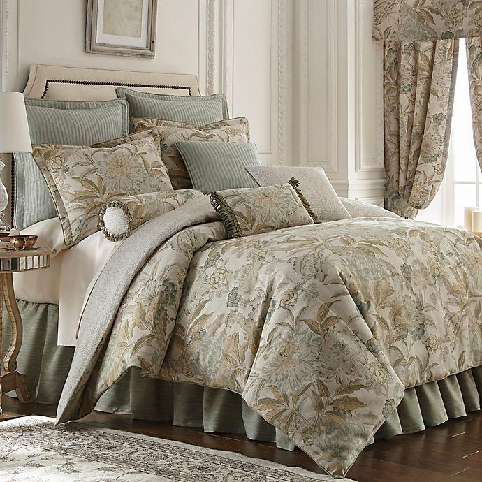Buy Rose Tree Antibes Queen Comforter Set In Blue From Bed
