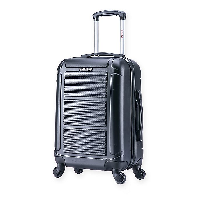 Alternate image 1 for InUSA Pilot 20-Inch Hardside Spinner Carry On Luggage in Black
