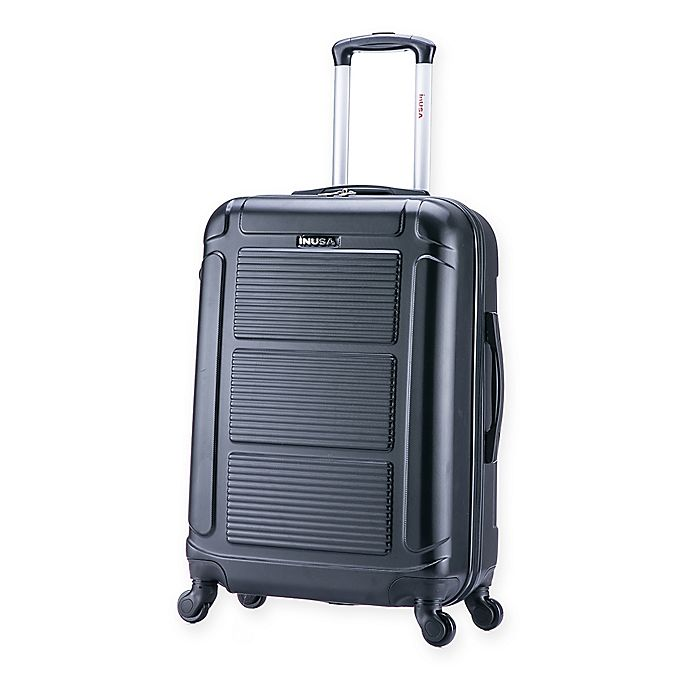 Alternate image 1 for InUSA Pilot 24-Inch Hardside Spinner Checked Luggage in Black
