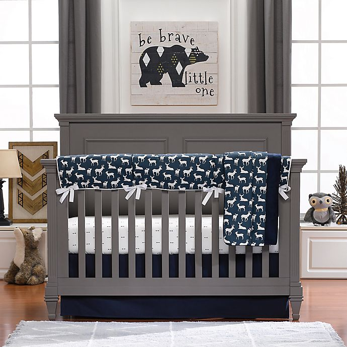 Alternate image 1 for Liz and Roo Woodland Deer Crib Bedding Collection