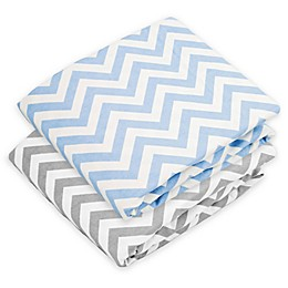 kushies® Chevron Flannel Fitted Crib Sheet