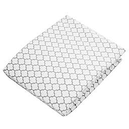 kushies® Ornament Flannel Fitted Crib Sheet in White/Grey