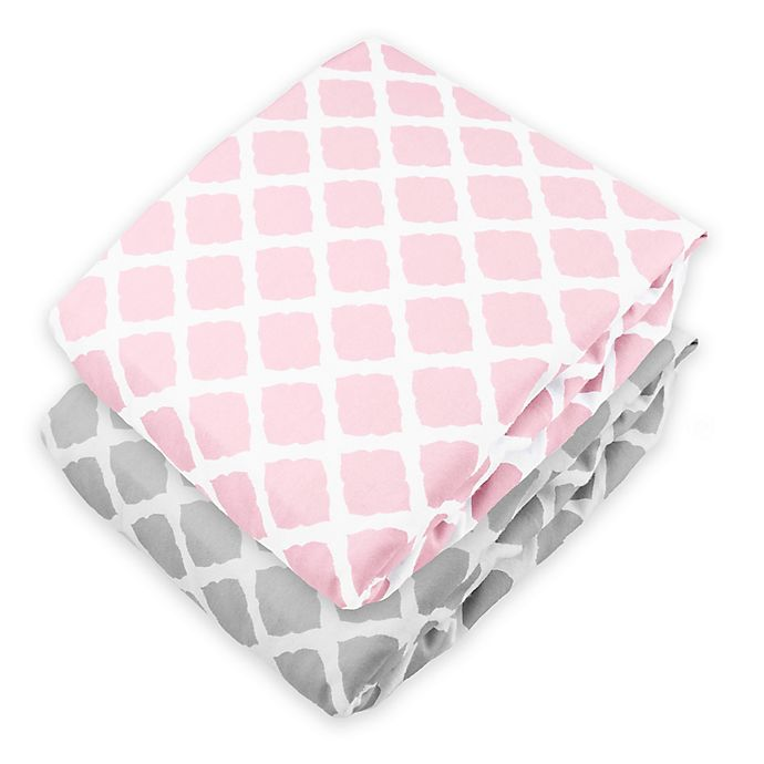 Alternate image 1 for kushies® Lattice Flannel Fitted Crib Sheet