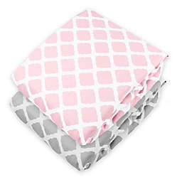 kushies® Lattice Flannel Fitted Crib Sheet