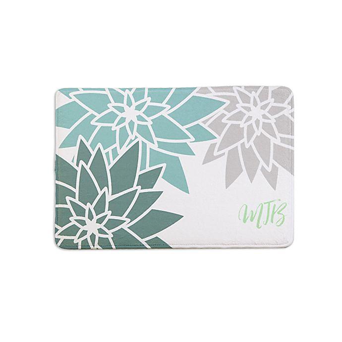 Alternate image 1 for Mod Floral Memory Foam Bath Mat