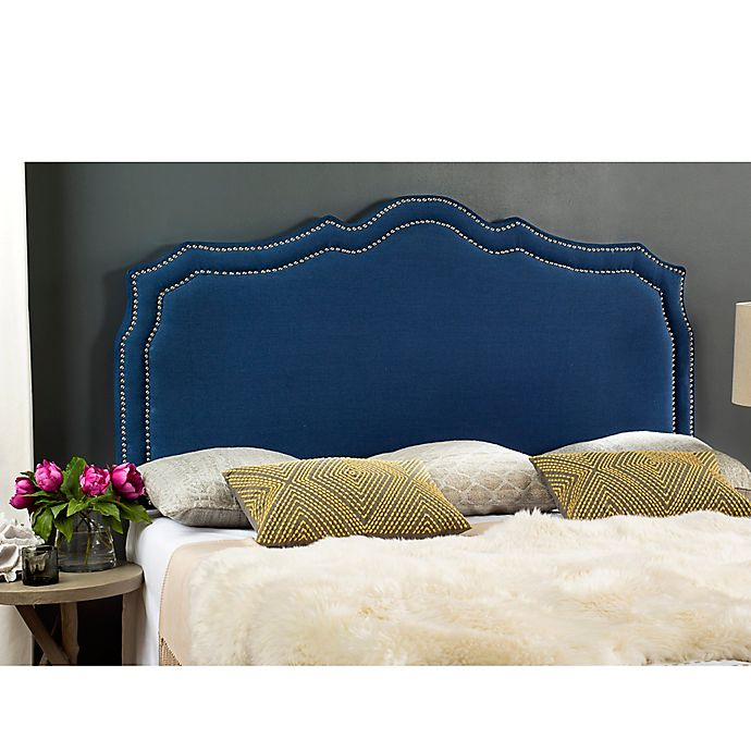 Safavieh Skyler Upholstered Headboard Bed Bath Amp Beyond