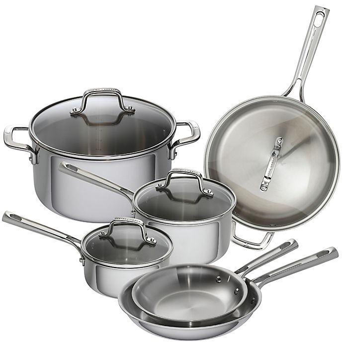 Alternate image 1 for Emeril™ 10-Piece Tri-Ply Stainless Steel Cookware Set