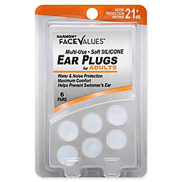Harmon® Face Values® 6-Count Adults Multi-Use NRR 21 dB Soft Silicone Ear Plugs