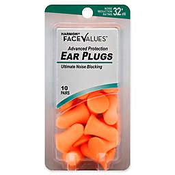 Harmon® Face Values® 10-Count Advanced Protection NRR 32 dB Ear Plugs in Orange