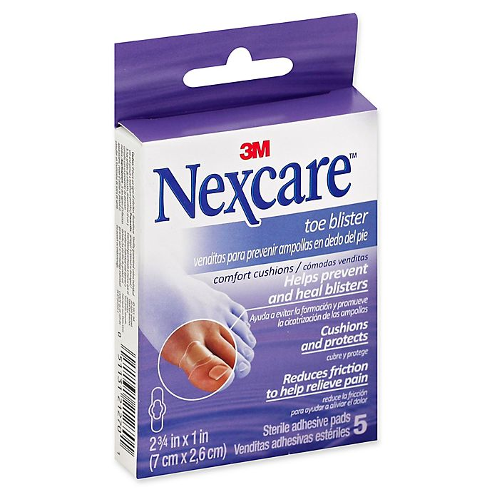 Alternate image 1 for Nexcare™ 5-Count Toe Blister Comfort Cushions