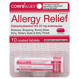 Core Values 10-Count Allergy Relief 25 mg Coated Tablets