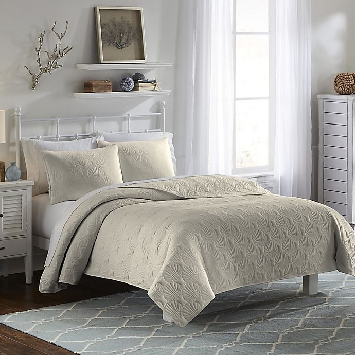 Alternate image 1 for Vue Atlantis Queen Bedspread Set in Khaki