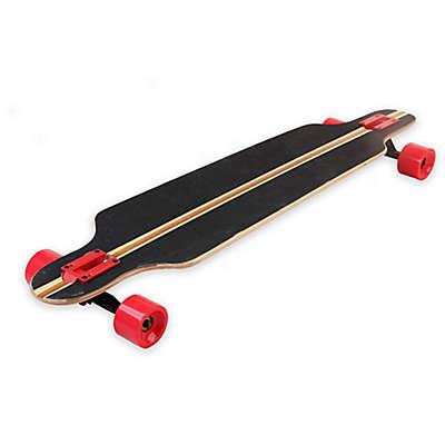 Ferrari Longboard 40-Inch x 9-Inch Skateboard in Black/Red Stripe