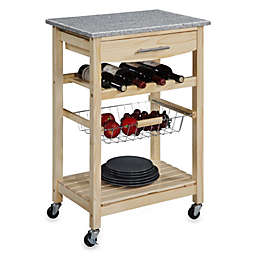 129 99 Granite Rolling Kitchen Cart