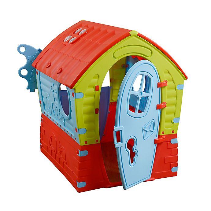 Alternate image 1 for PalPlay Dream Indoor/Outdoor Playhouse in Green/Multi