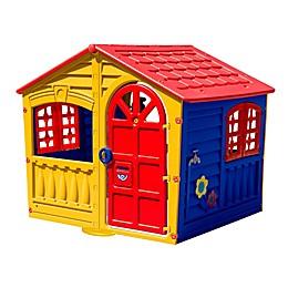 PalPlay House of Fun Indoor/Outdoor Playhouse in Yellow/Multi