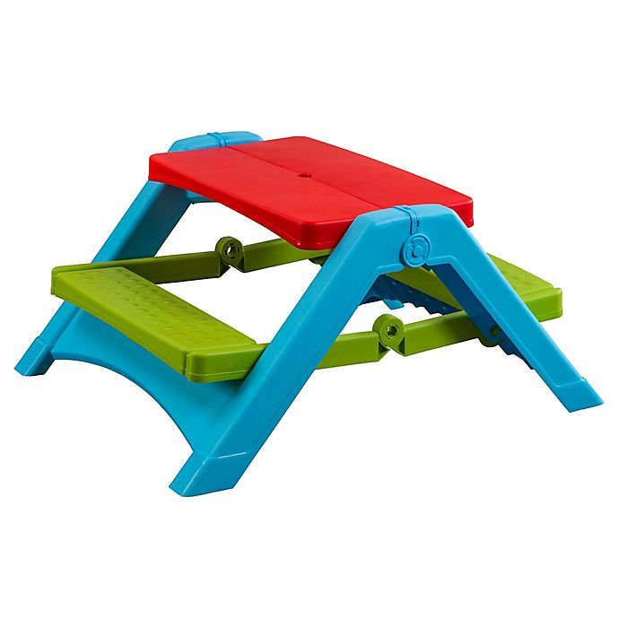Alternate image 1 for PalPlay Folding Indoor/Outdoor Picnic Table in Multi