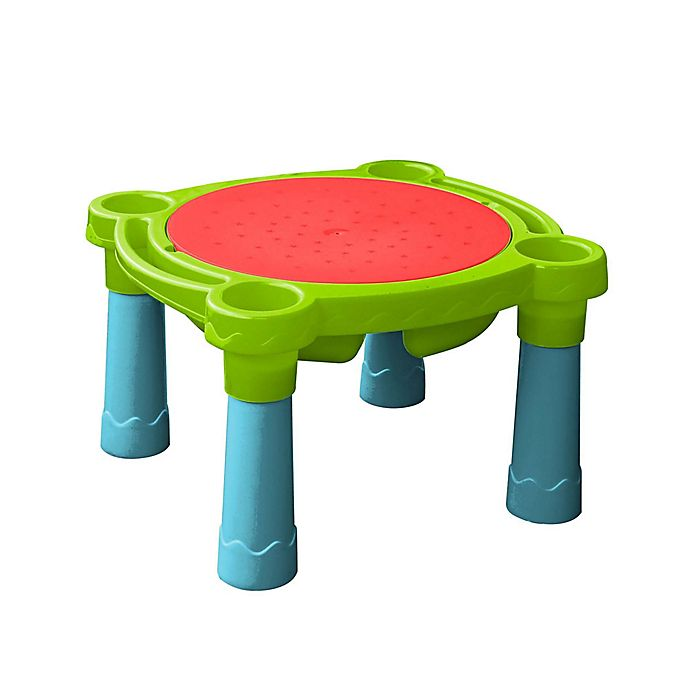 Alternate image 1 for PalPlay Sand & Water Indoor/Outdoor Table in Blue/Yellow