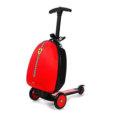 Ferrari 3-Wheel Trolley Bag Scooter in Red