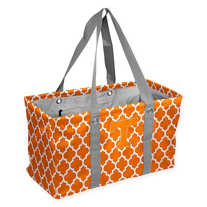Alternate image 1 for University of Tennessee Quatrefoil Picnic Caddy Tote in Tangerine