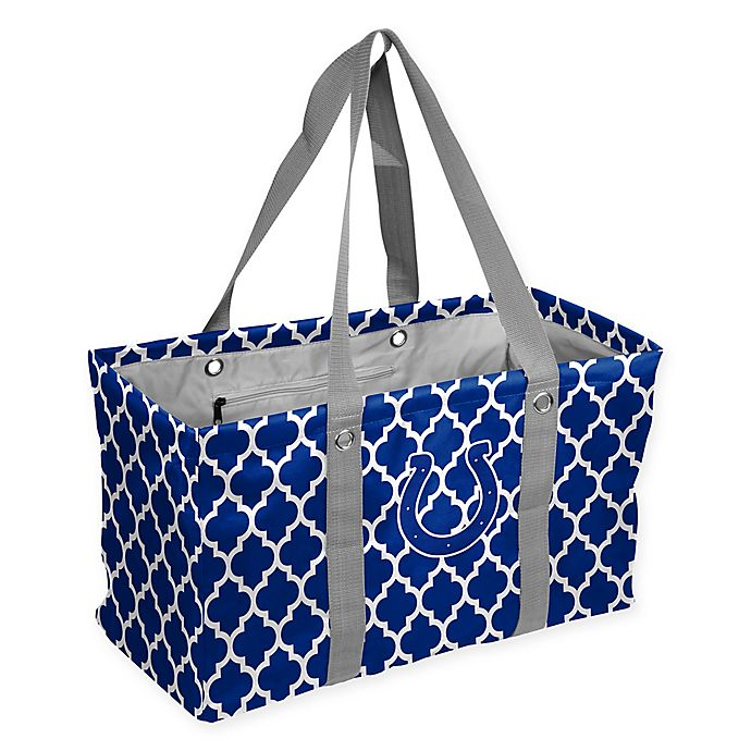 Alternate image 1 for NFL Indianapolis Colts Quatrefoil Picnic Caddy in Royal
