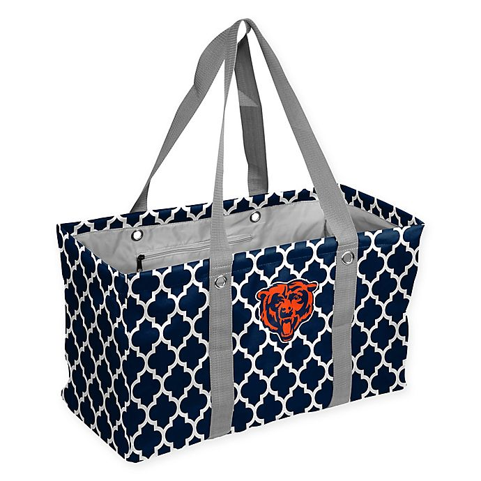 Alternate image 1 for NFL Chicago Bears Quatrefoil Picnic Caddy in Navy