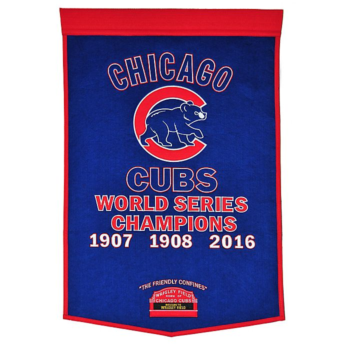 Alternate image 1 for MLB Chicago Cubs Dynasty Banner