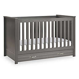 DaVinci Asher 3-in-1 Convertible Crib With Toddler Bed Conversion Kit in Slate