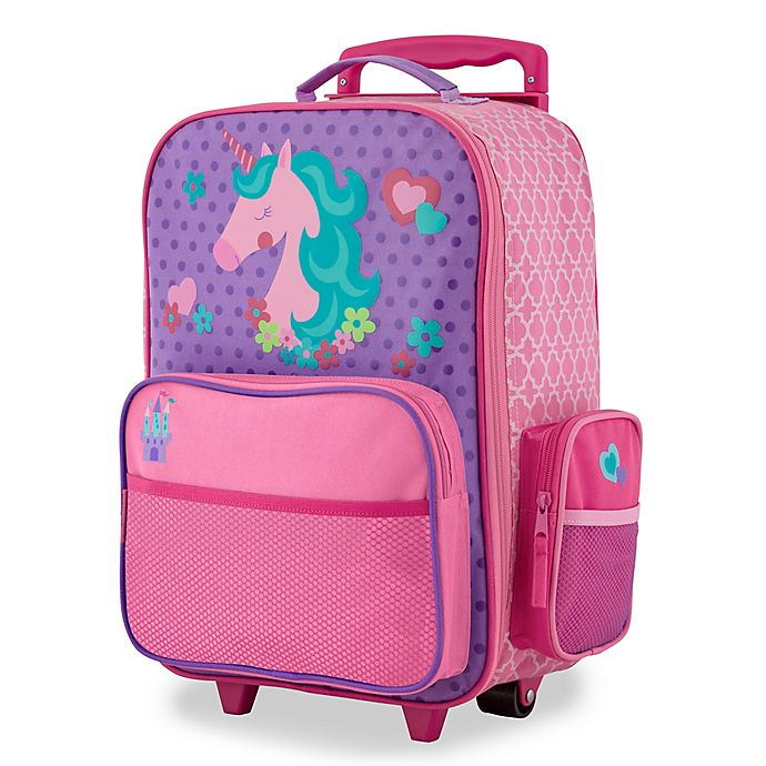 Alternate image 1 for Stephen Joseph® Unicorn Classic Rolling Luggage in Purple