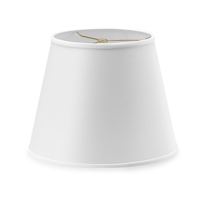 Alternate image 1 for Large 15-Inch Modified Barrel Lamp Shade in White