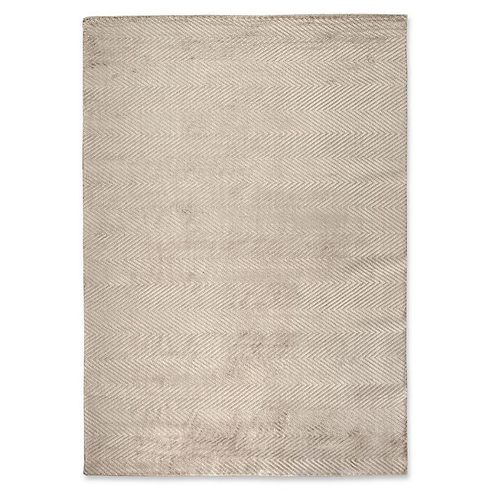 Alternate image 1 for Exquisite Rugs Honeycomb 6-Foot x 9-Foot Area Rug in Silver
