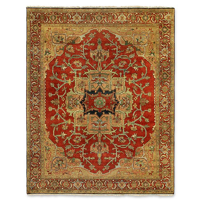 Alternate image 1 for Exquisite Rugs Antique Weave 6-Foot x 9-Foot Area Rug in Red