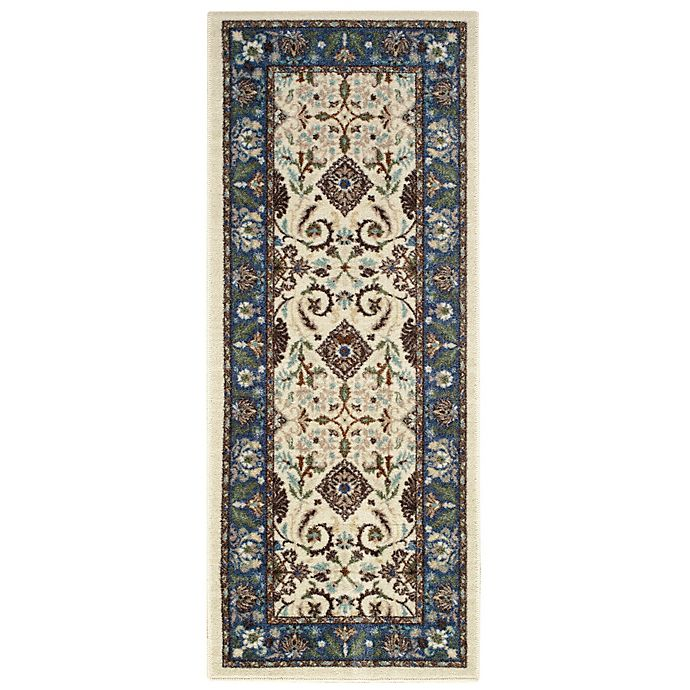 Alternate image 1 for Brumlow Mills® Tarsus 1-Foot 10-Inch x 5-Foot Washable Runner in Blue